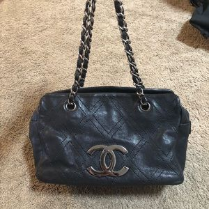 CHANEL Bags - Authentic Chanel Diamond stitch tote calfskin